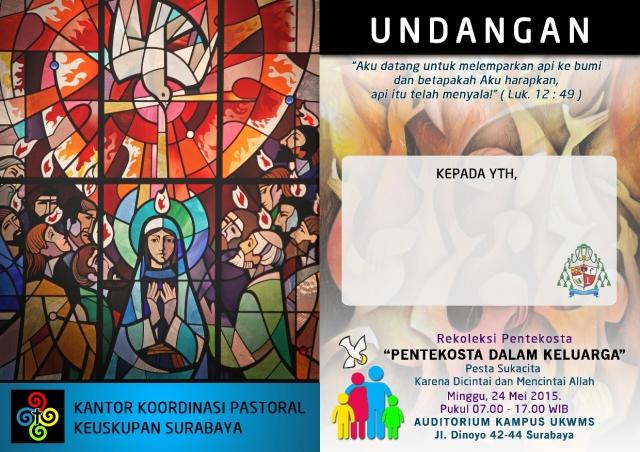 REKOLEKSI PENTAKOSTA 15 - KELOMPOK KATEGORIAL KEUSKUPAN SURABAYA