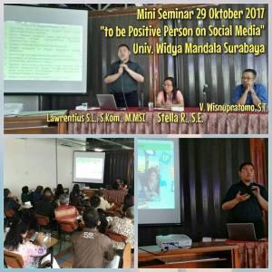 Mini Seminar 29 Oktober 2017