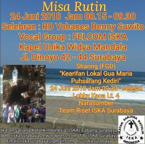 Misa Rutin 24 Juni 2018