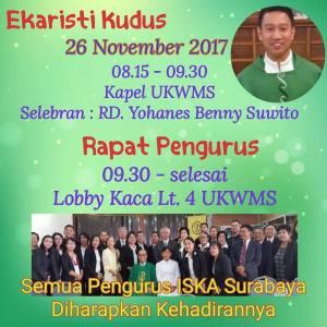 Misa Rutin & Rapat Pengurus 26 November 2017