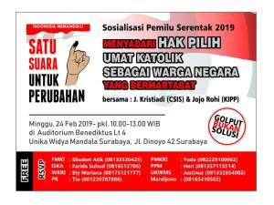 Sosialisasi Pemilu Serentak 2019